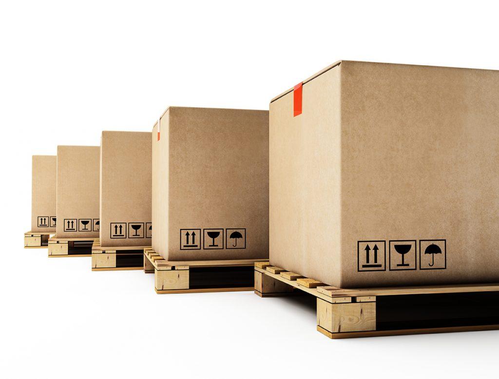 Industrieverpackung auf Palette