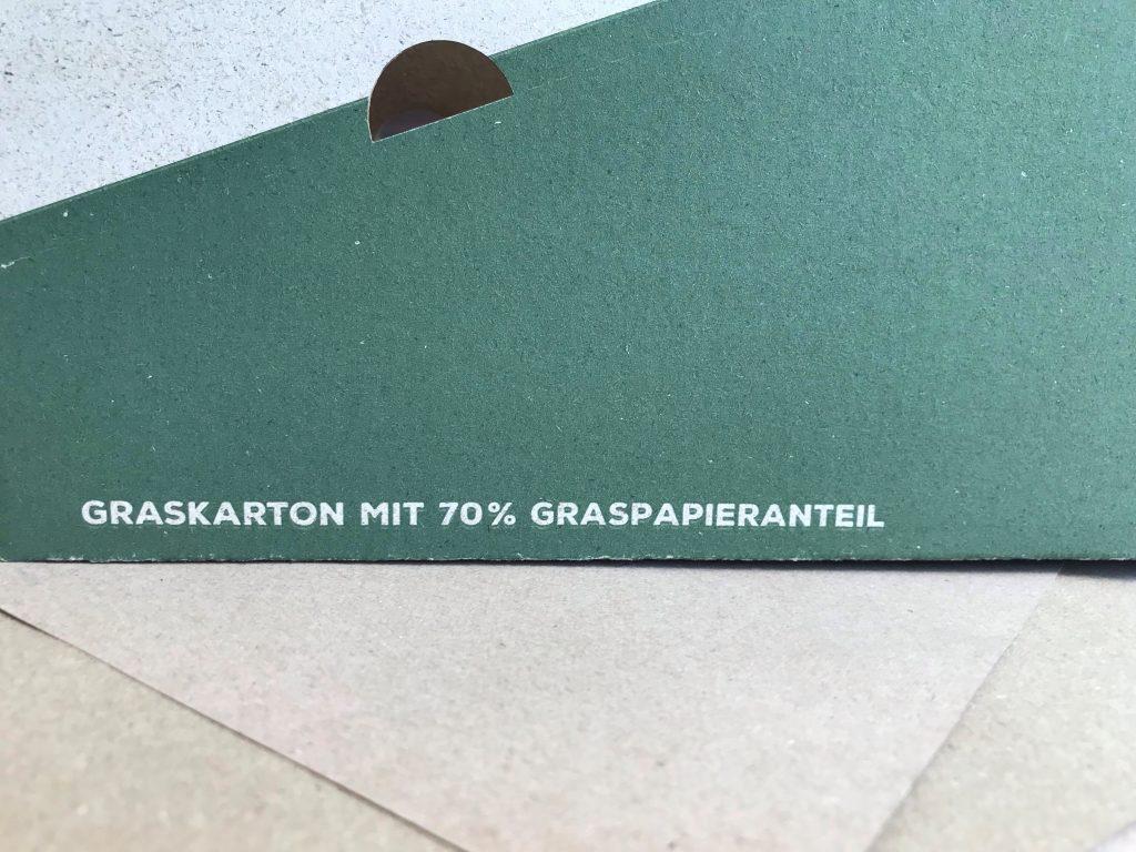 Graspapier Kartonverpackung