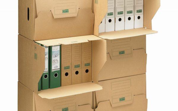 Archivkarton aus Wellpappe