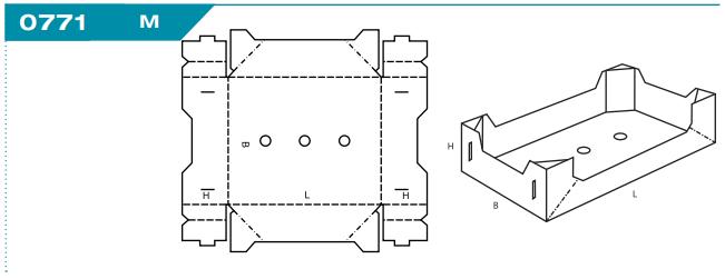 Vollpappe 0771 fertig gekelbte Schachtel